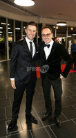 Press Eye - Belfast - Northern Ireland - 14th January 2019.. BELFAST TELEGRAPH SPORTS AWARDS 2018. Jonathan Rea and Jeremy McWilliams pictured at the  Belfast Telegraph Sports Awards in the ICC Belfast.. Photo by Matt Mackey / Press Eye.
