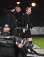 Tennent\'s Irish Cup Round 6, Windsor Park, Belfast 11/2/2019. Ballymena v Portadown. Referee Ross Dunlop . Mandatory Credit INPHO/Stephen Hamilton.