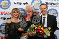 Press Eye - Belfast - Northern Ireland . 2012 Belfast Telegraph Making The Difference Awards  supported by TESCO.. Belfast Telegraph Making The Difference Outstanding Contribution to the Community Award supported by TESCO presented by Mike Gilson, Editor of the Belfast Telegraph & Caoimhe Mannion, Marketing Manager NI, Tesco.. Winner – Dame Mary Peters.  Mandatory credit: Picture by Brian Thompson/ Presseye.com. . .
