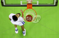 Press Eye - Belfast -  Northern Ireland - 01st December 2018 - Photo by William Cherry/Presseye. Buffalo\'s Jeremy Harris during Saturday evenings Goliath Championship game of the Basketball Hall of Fame Belfast Classic at the SSE Arena, Belfast.
