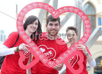 Press Eye Belfast - Northern Ireland 16th May 2017. LOVE ON THE STREET' AS BELFAST PUBLIC SHOWS SUPPORT FOR MARRIAGE EQUALITY. Members of the Belfast public are showing their support for marriage equality in Northern Ireland today as campaigners take to the streets all over the city..  . As part of Northern Ireland LGBT Awareness week (15th – 21st April), Love Equality, the campaign for marriage equality in Northern Ireland, is taking the campaign to the streets to demonstrate how widespread support for marriage equality is and to answer questions from members of public on how this affects them, their families and their communities.. Left to right.  Becka Price, Matthew Corr and Jo McParland. Picture by Jonathan Porter/PressEye.com.