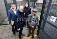 Press Eye - Belfast - Northern Ireland - 30th November 2018. . The Detail journalists Barry McCaffrey(front right) and Trevor Birney(front left) pictured entering PSNI Musgrave Street Station where for further questioning after they were recently arrested regarding allegedly stolen information which appeared in the documentary \'No Stone Unturned\'.  The documentary told the story of the murder of six men by the UVF in a pub in Loughinisland, Co. Down. . The NUJ also held a protest outside the station in support of the two journalists. . Picture by Jonathan Porter/PressEye