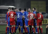 Danske Bank Premiership, Solitude, Belfast 1/12/2018 . Cliftonville vs Dungannon Swifts. Tempers get heated at Solitude. Mandatory Credit INPHO/Freddie Parkinson