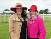 Press Eye © Belfast - Northern Ireland. Photo by Freddie Parkinson / Press Eye ©. Friday 8 September 2017. West Coast Cooler Race Evening at Down Royal Racecourse. Coleen Murray and Aisling Rafferty from Berling Ladies Fashion Newry.