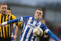 Tennent\'s Irish Cup Round 5, The Showgrounds, Co. Londonderry 5/1/2019. Coleraine vs H&W Welders. Coleraine\'s Ian Parkhill in action with H&W Welders\' Chris Morrow. Mandatory Credit INPHO/Matt Mackey