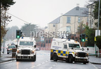 Press Eye - Belfast - Northern Ireland - 4th December 2018. The scene on the Glen Road in west Belfast where Jim Donegan, aged in his 40s, was shot dead on Tuesday afternoon as he sat waiting in his car to pick up his son from St Marys Christian Brothers Grammar School.. Picture by Jonathan Porter/PressEye