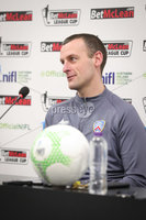 Press Eye - Belfast - Northern Ireland - 5th February 2020 - . NIFL  Bet McLean League Cup Final press night at the National Stadium.. Oran Kearney from Coleraine FC . Photo by Kelvin Boyes / Press Eye.