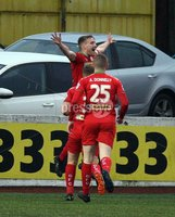 Danske Bank Premiership, Solitude, Belfast 1/12/2018 . Cliftonville vs Dungannon Swifts. Chris Curran scored Cliftonville\'s second goal. Mandatory Credit INPHO/Freddie Parkinson