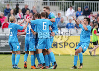 Press Eye - Belfast - Northern Ireland - 27th July 2018. SuperCupNI Cup International Youth Football Tournament at Ballymena\'s Showgrounds.  Supercut Final.  B Italia Vs Co. Down.. B Italia celebrate after scoring to make it 2-0. . Picture by Jonathan Porter/PressEye