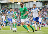 Press Eye Belfast - Northern Ireland 8th September 2018. UEFA Nations League 2019 Final Tournament at the National Stadium at Windsor Park.  Northern Ireland Vs Bosnia and Herzegovina. . Northern Ireland\'s Will Grigg. Picture by Jonathan Porter/PressEye.com