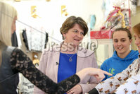 Philip Magowan Photography - Northern Ireland - 19th May 2017. Pictured: DUP leader Arlene Foster visits Brown Bear Banbridge.. Picture: Philip Magowan