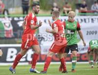 4th August 2018. Danske Bank Irish premier league match between Glentoran and Cliftonville at The Oval in Belfast..  Cliftonvilles Joe Gormley  celebrates after scoring to make it 1-1.  Mandatory Credit: Stephen Hamilton /Inpho