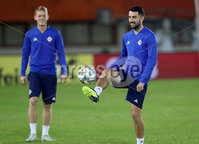 Press Eye - Belfast -  Northern Ireland - 11th October 2018 - Photo by William Cherry/Presseye. Northern Ireland\'s Conor McLaughlin during Thursday nights training session at the Ernst Happel Stadium in Vienna, ahead of their UEFA Nations League game against Austria.