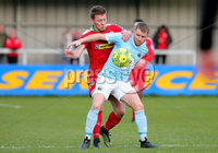 Danske Bank Premiership, Milltown Playing Fields, Newry 2/12/2017 . Warrenpoint Town vs Cliftonville. Warrenpoint\'s Marty Murray and Cliftonville\'s Stephen Garrett. Mandatory Credit ©INPHO/Philip Magowan