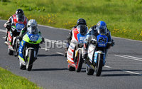Mandatory Credit: Rowland White / PressEye. ULSTER GRAND PRIX. Venue: Dundrod. Date: 12th August 2017. Class: SUPERTWIN RACE. Caption: Jonathan Perry (24), Christian Elkin (18), Adam McLean (56) and Derek Sheils (82)