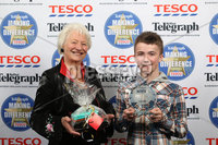 Press Eye - Belfast - Northern Ireland .  2012 Belfast Telegraph Making The Difference Awards  supported by TESCO.. Spirit of Youth award presented by Dame Mary Peters to the Winner – Adam Kerr.  Mandatory credit: Picture by Brian Thompson/ Presseye.com. . .
