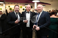 Press Eye - Belfast - Northern Ireland - 14th January 2019.. Philip Galbraith, Paul Mooney and Robert Rickey pictured at the  Belfast Telegraph Sports Awards 2018 in the ICC Belfast.. Photo by Kelvin Boyes / Press Eye..
