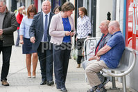 Philip Magowan Photography - Northern Ireland - 19th May 2017. Pictured: DUP Leader Arlene Foster and David Simpson MP in Banbridge.. Picture: Philip Magowan