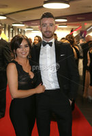Press Eye - Belfast - Northern Ireland - 14th January 2019.. BELFAST TELEGRAPH SPORTS AWARDS 2018. Glenn Irwin and laura McGee pictured at the  Belfast Telegraph Sports Awards in the ICC Belfast.. Photo by Matt Mackey / Press Eye.