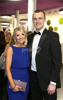 Press Eye - Belfast - Northern Ireland - 14th January 2019.. BELFAST TELEGRAPH SPORTS AWARDS 2018. Oran Kearney and wife Lauren pictured at the  Belfast Telegraph Sports Awards in the ICC Belfast.. Photo by Matt Mackey / Press Eye.