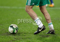 Press Eye - Belfast -  Northern Ireland - 12th November 2017 - Photo by William Cherry/Presseye. Northern Ireland\'s warm up on a heavy pitch before Sunday nights World Cup Play Off 2nd leg game at St. Jakob-Park, Basel.