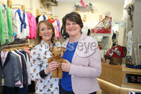 Philip Magowan Photography - Northern Ireland - 19th May 2017. Pictured: DUP Leader Arlene Foster and Yvonne Jackson of Brown Bear Banbridge.. Picture: Philip Magowan