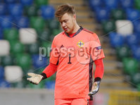 Press Eye - Belfast - Northern Ireland - 12th November 2020. UEFA Nations League 2021 - Northern Ireland Vs Romania at The National Stadium at Windsor Park, Belfast.. Northern Irelands goalkeeper Bailey Peacock-Farrell. Picture by Jonathan Porter/PressEye