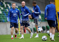 Press Eye - Belfast, Northern Ireland - 01st September 2020 - Photo by William Cherry/Presseye. Northern Ireland\'s Shayne Lavery and Liam Boyce during Tuesday mornings training session at the National Stadium at Windsor Park, Belfast ahead of Friday nights Nations League game in Romania.    Photo by William Cherry/Presseye