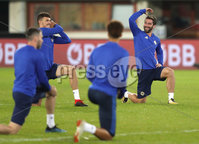Press Eye - Belfast -  Northern Ireland - 11th October 2018 - Photo by William Cherry/Presseye. Northern Ireland\'s Will Grigg during Thursday nights training session at the Ernst Happel Stadium in Vienna, ahead of their UEFA Nations League game against Austria.