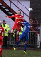 Danske Bank Premiership, Solitude, Belfast 1/12/2018 . Cliftonville vs Dungannon Swifts. Rory Donnelly Cliftonville and Douglas Wilson Dungannon. Mandatory Credit INPHO/Freddie Parkinson