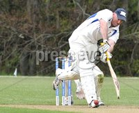 © Presseye Press Eye Ltd- Northern Ireland. May 5th 2012. Mandatory Credit Photo by Presseye.com. . NCU Ulster Bank Premier League. Instonians v CIYMS.. CIYMS\' Jeremy Bray hits a six to take him through the 100 mark during Saturday\'s match at Shaws Bridge