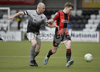 07/12/2019. Danske Bank Premiership, Seaview, Belfast Co. Antrim . Crusaders v Institute. Crusaders Jamie McGonigle  in action with Institutes Dean Curry. Mandatory Credit INPHO/Stephen Hamilton.