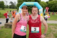 Press Eye - Belfast - Northern Ireland - 5th June 2016 - . Elaine and Gerard McAuley from Belfast  take part in the first ever Centra 5k pairs run for Action Cancer at Ormeau Park.. Over 100 families, friends and colleagues paired up today (Sunday 5th June) for the inaugural Centra Run Together event at Ormeau Park, raising vital funds for local charity Action Cancer. . Run Together is a set of four 5k races taking place across Belfast, Mid Ulster and Derry between June and October which encourage you to run with your partner, son, daughter, friend or neighbour. . Picture by Kelvin Boyes / Press Eye . .