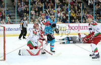 11 November 17, Mandatory Credit ©Press Eye/Darren Kidd.  Belfast Giants Jonathan Ferland during Saturday nights Elite League game at the SSE Arena, Belfast. Photo by Darren Kidd/Presseye