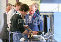 . Press Eye - Belfast - Northern Ireland - 22nd May 2019 - . The Prince of Wales is pictured meeting pupils and teachers at St Patricks Grammar School, Armagh during his 2 day visit to Northern Ireland. . Picture Matt Mackey / Press Eye.