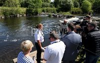 Press Eye - Belfast - Northern Ireland - 16th July 2017 . PSNI Superintendent Melanie Jones speaks to media in an appeal for the public's help in identifying a male whose body was recovered from the river there on Friday afternoon in the Shaws Bridge area of South Belfast.. Picture by Matt Mackey / presseye.com.