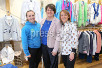 Philip Magowan Photography - Northern Ireland - 19th May 2017. Pictured: DUP Leader Arlene Foster with Jemma and Yvonne Jackson of Brown Bear Banbridge.. Picture: Philip Magowan