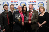 Press Eye - Belfast - Northern Ireland . 2012 Belfast Telegraph Making The Difference Awards  supported by TESCO.. Best Art / Sport / Community Project award presented to the Oh Yeah Music Centre pictured are John D\'Arcy,Stuart Baillie,Charlotte Dryden,Gabriel McKenna,John Greer and Ryan O\'Neill.  Mandatory credit: Picture by Brian Thompson/ Presseye.com. . .