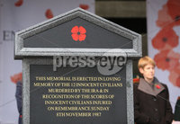 Wednesday 8th November 2017. Pictures by Press Eye . com. . Attending The Service at the unveiling and dedication of the memorial for the victims of the 1987 Enniskillen Poppy Day Bomb.. ©presseye©