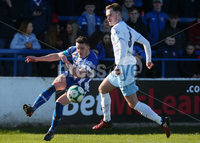 Danske Bank Premiership at Coleraine Showgrounds, Coleraine  09.03.2019. Coleraine FC Vs Ballymena United. . Coleraine\'s Stephen O\'Donnell with Ballymena\'s Conor Quigley. . Mandatory CreditINPHO/PressEye.com/Jonathan Porter.