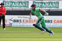 Mandatory Credit: Rowland White / PressEye. Cricket: Walton Tri-Series International. Teams: Ireland (light green) v Bangladesh (dark green). Venue: Malahide. Date: 19th May 2017. Caption: Ed Joyce, Ireland