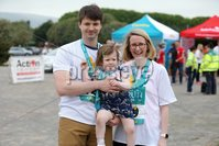 Press Eye - Belfast - Northern Ireland - 5th June 2016 - . Colette, Karsten and Cassie-May Molka take part in the first ever Centra 5k pairs run for Action Cancer at Ormeau Park.. Over 100 families, friends and colleagues paired up today (Sunday 5th June) for the inaugural Centra Run Together event at Ormeau Park, raising vital funds for local charity Action Cancer. . Run Together is a set of four 5k races taking place across Belfast, Mid Ulster and Derry between June and October which encourage you to run with your partner, son, daughter, friend or neighbour. . Picture by Kelvin Boyes / Press Eye . .
