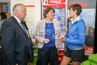 Philip Magowan Photography - Northern Ireland - 19th May 2017. Pictured: David Simpson MP and DUP leader Arlene Foster with Lisa Hanna of Fit Banbridge.. Picture: Philip Magowan