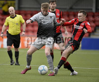 07/12/2019. Danske Bank Premiership, Seaview, Belfast Co. Antrim . Crusaders v Institute. Crusaders  Rory Hale in action with Institutes Evan Tweed. Mandatory Credit INPHO/Stephen Hamilton.