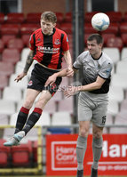 07/12/2019. Danske Bank Premiership, Seaview, Belfast Co. Antrim . Crusaders v Institute. Crusaders  Jamie McGonigle in action with Institutes Conor Tourish . Mandatory Credit INPHO/Stephen Hamilton.
