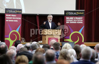 Press Eye - Belfast - Northern Ireland - 10th February 2019 - . Gerry Adams TD pictured at the event at St Marys University College Belfast entitled Pat Finucane 30th Anniversary, A Community Reflects. The event was organised by Feile an Phobail.. Photo by Kelvin Boyes / Press Eye