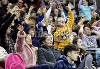 Press Eye - Belfast, Northern Ireland - 29th November 2019 - Photo by William Cherry/Presseye. Fans cheer on their teams as Colgate play Princeton during Friday evenings Friendship Four game at the SSE Arena, Belfast. Photo by William Cherry/Presseye