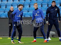 Press Eye - Belfast -  Northern Ireland - 07th October 2017 - Photo by William Cherry/Presseye. Northern Ireland\'s Stuart Dallas and George Saville during Saturdays nights training session at the Ullevaal Stadion, Oslo ahead of Sundays World Cup Qualifier against Norway.   Photo by William Cherry/Presseye