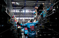 Press Eye - Belfast -  Northern Ireland - 09th August 2017 - Belfast Giants warmup before Saturday nights Elite Ice Hockey League game at the SSE Arena, Belfast.  Photo by Presseye
