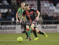 Danske Bank Premiership, Seaview Belfast.. Co Antrim 02/12/17. Crusaders v Glentoran. Mandatory Credit ©INPHO/Stephen Hamilton. Crusaders Gavin Whyte in action with Glentorans Eric Foley.